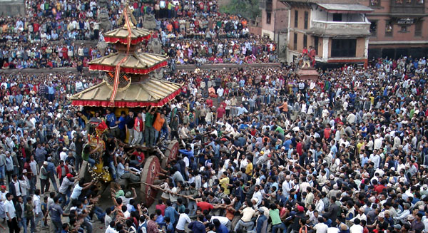 The Valley's Most Boisterous Festival— Bisket Jatra