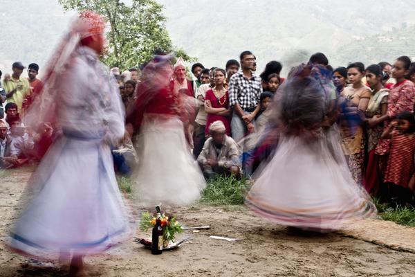 Shamans performing their ritual dance.