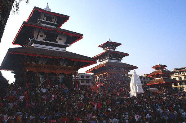 Large number of people watching the festival. Image: Bhuwan Maharjan
