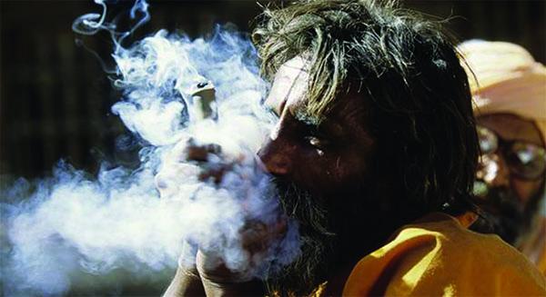 Nepali saints smoking
