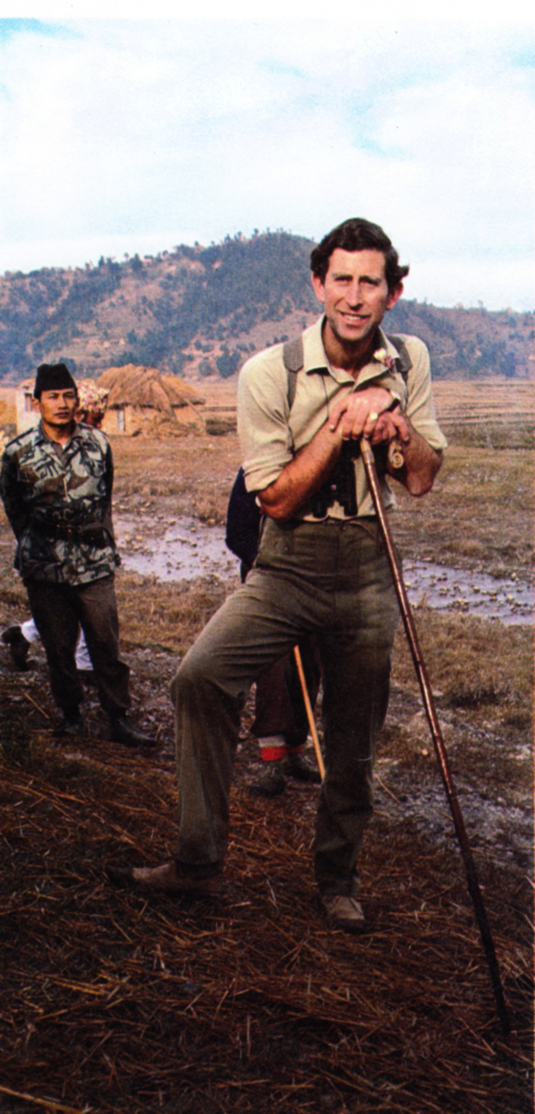 Prince Charles during the official tour of Nepal in November 1980.  Photo courtesy of Royal Wedding.