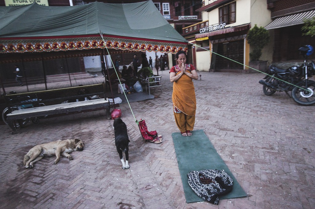 Nepal Earthquake Praying