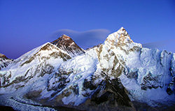 view of everest nuptse and southcol