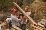 Prince Harry helps rebuild a school in Gorkha