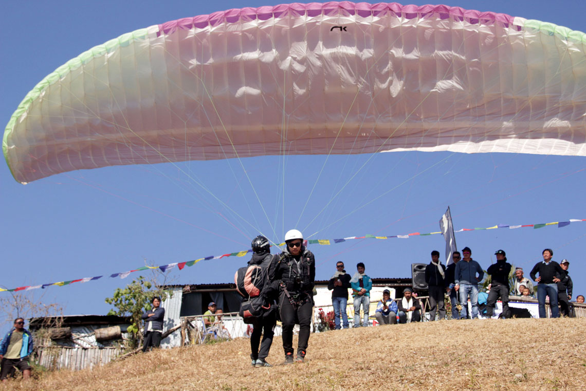 Commercial paragliding starts in Dharan (photo feature) - NewsNews